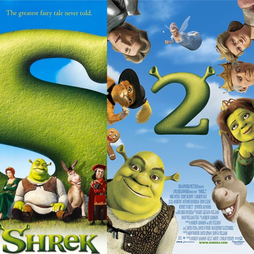 Shrek and Shrek 2